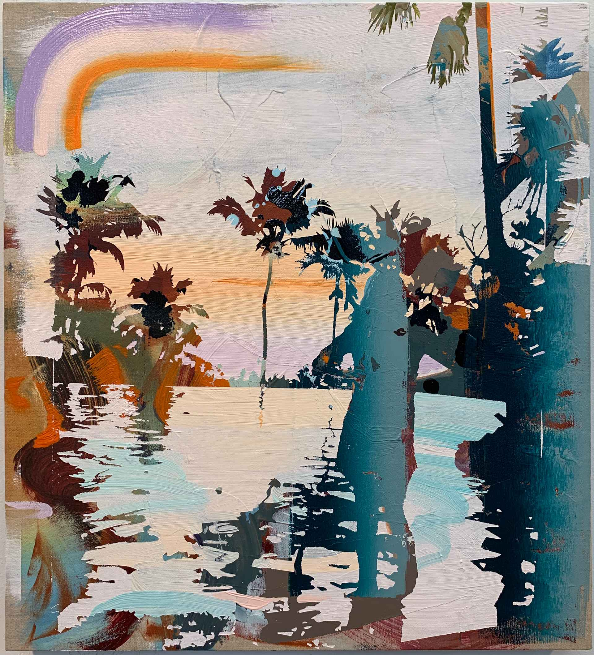 Poolside Sunset by Andrew Fish