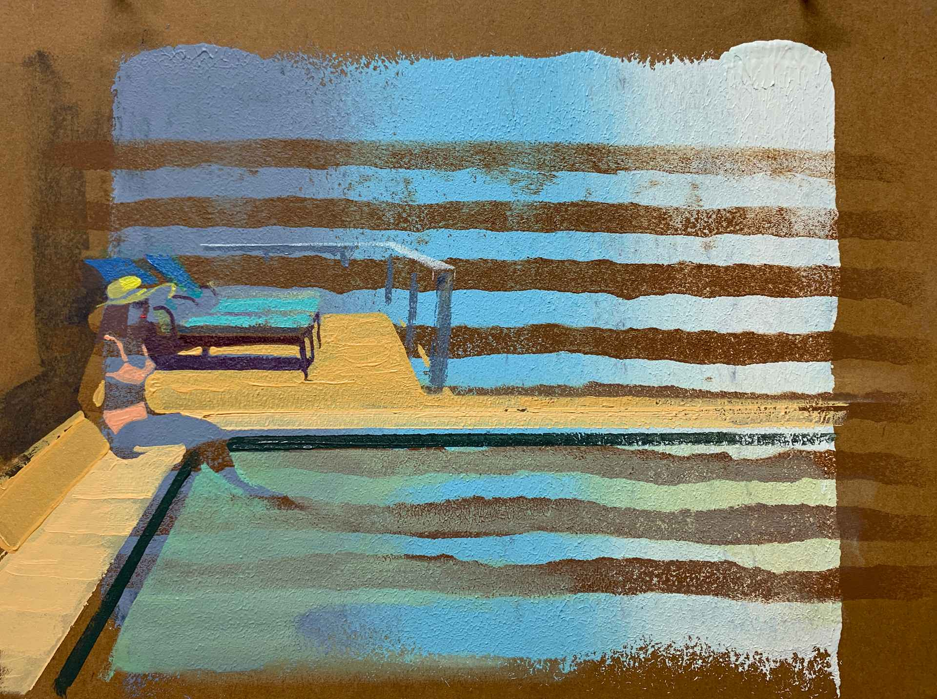 Poolside by Andrew Fish