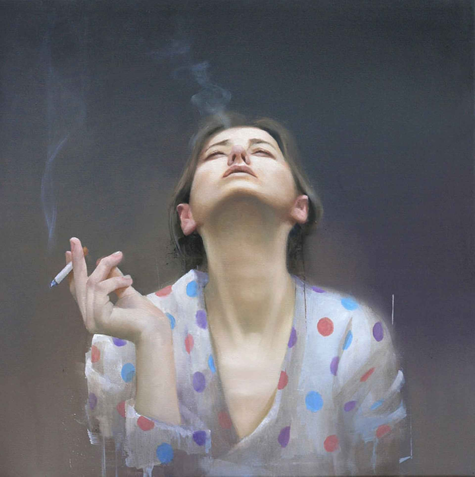 Smoking Girl by Andrew Hunt