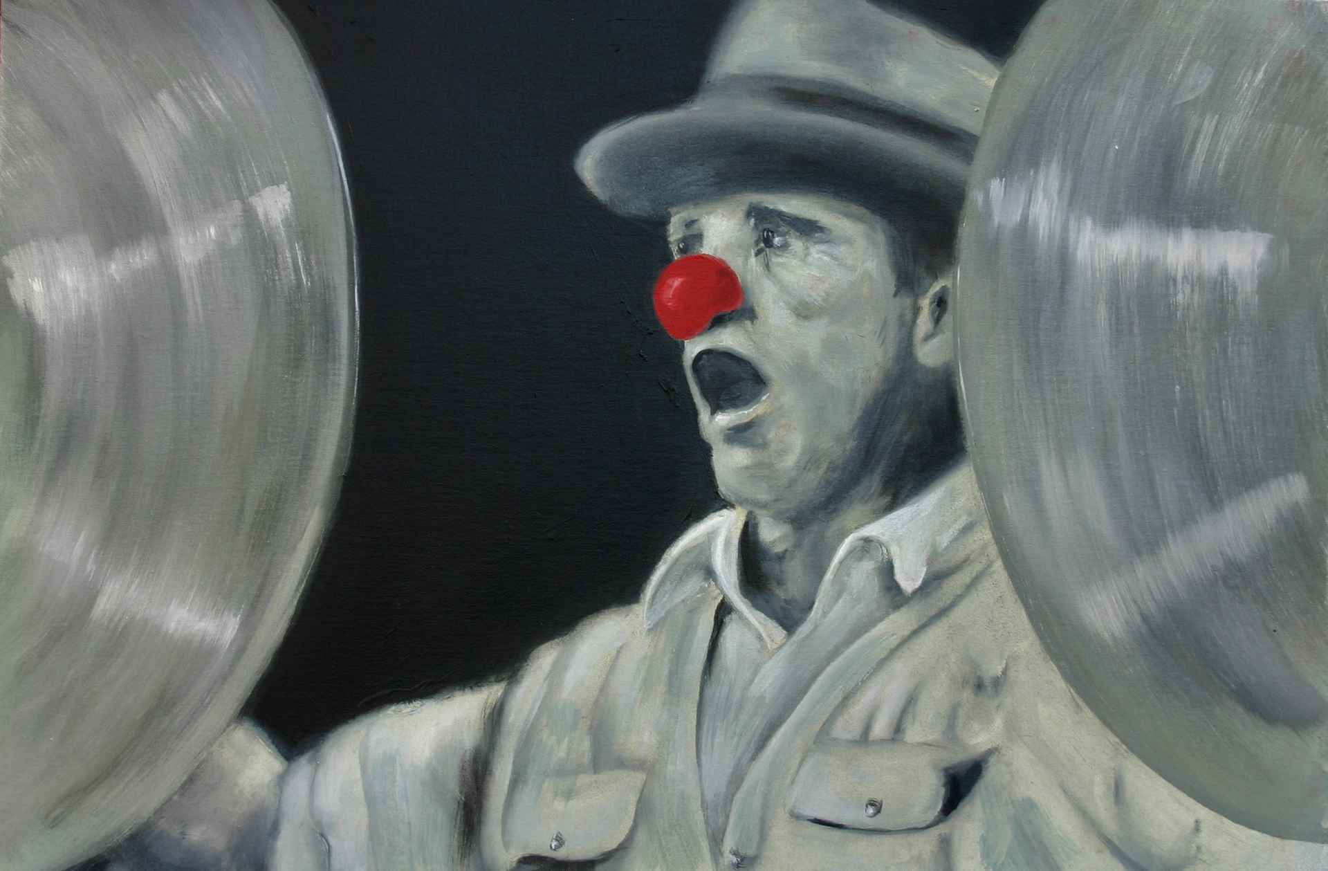 Untitled 1 with red Nose by Axel Bottenberg