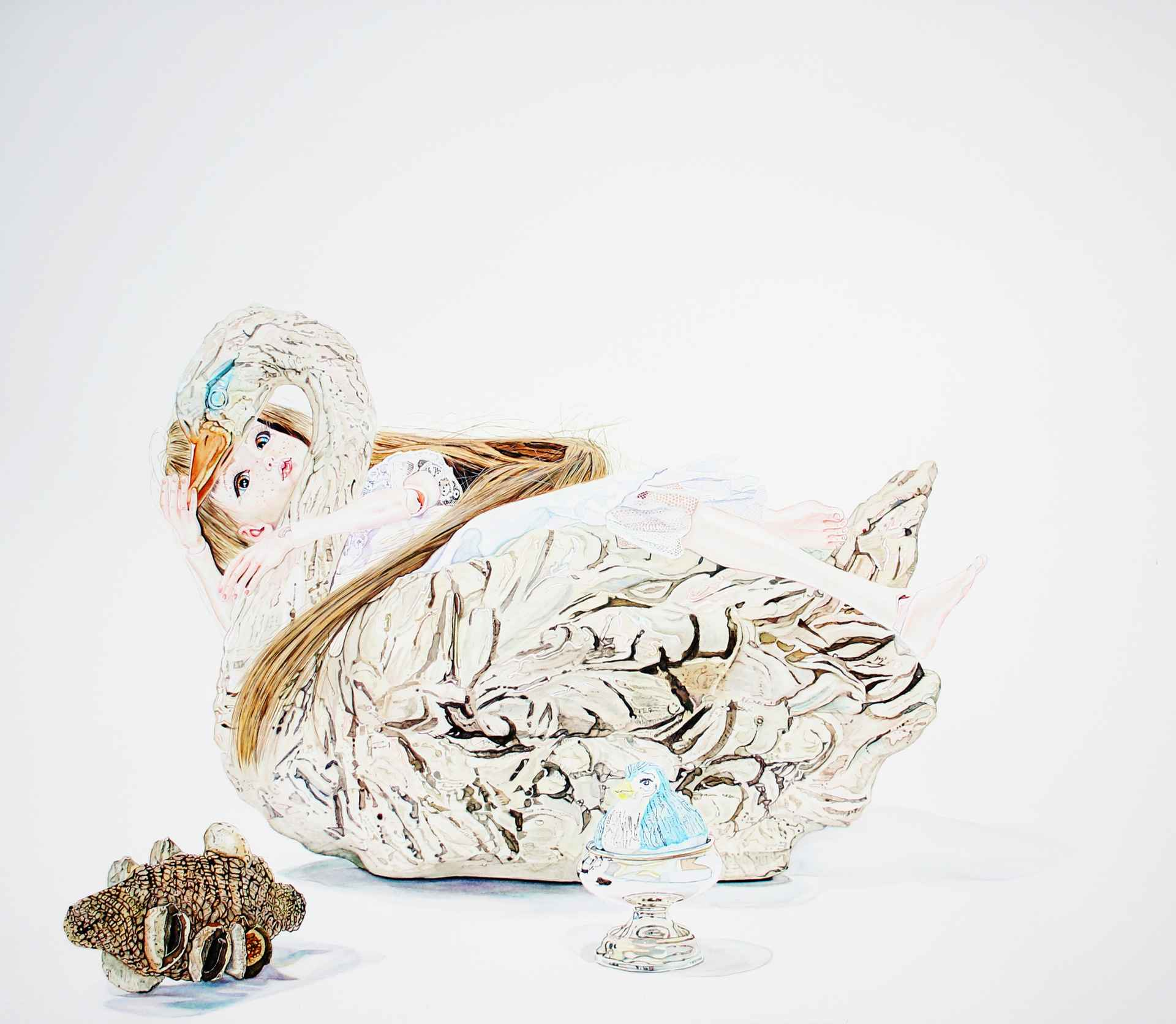 Leda and the Swan by David Hancock