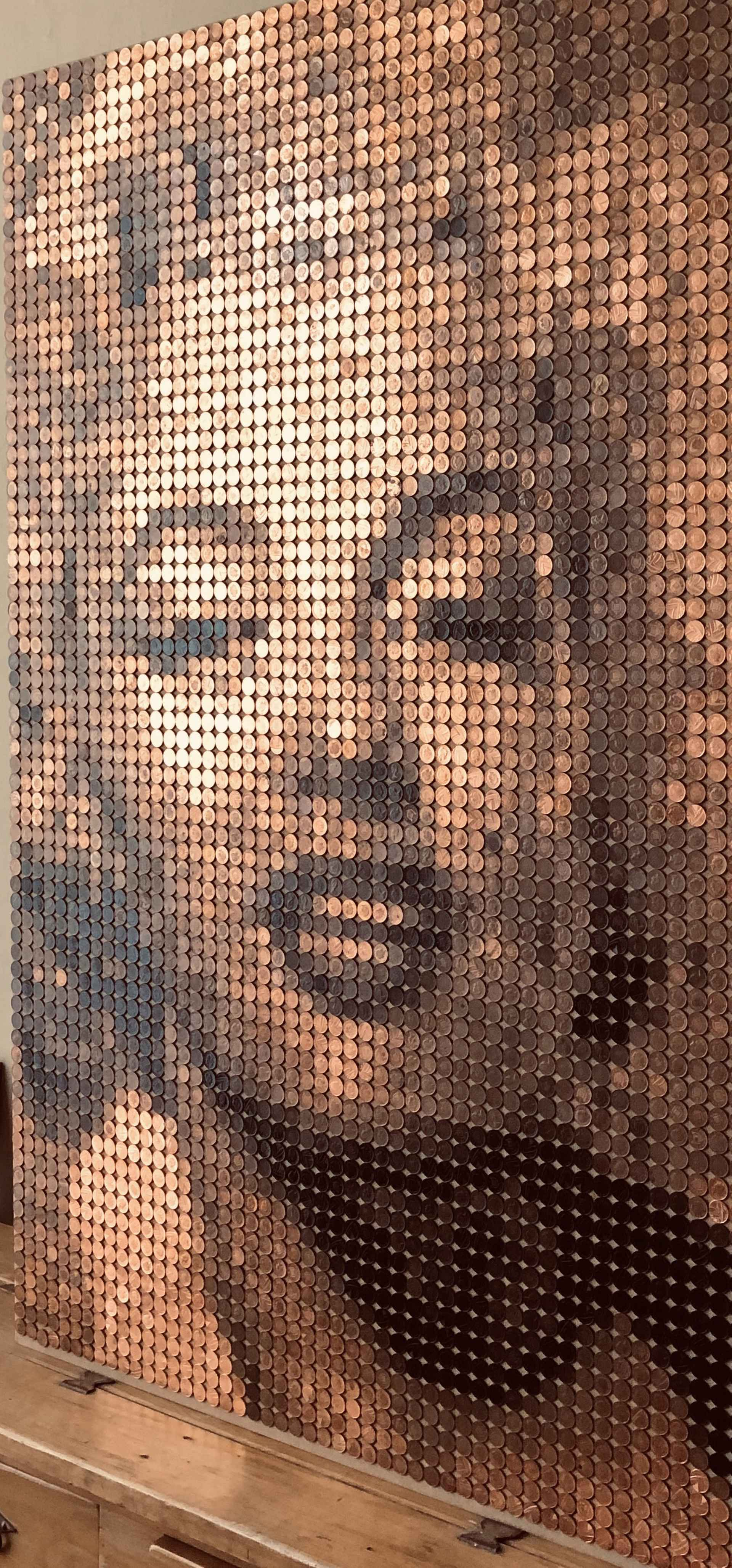Marilyn (in coins) by Ed Chapman