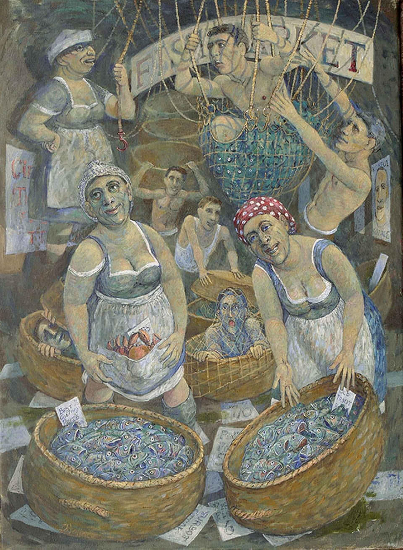 Fishwives by Richard Wallace