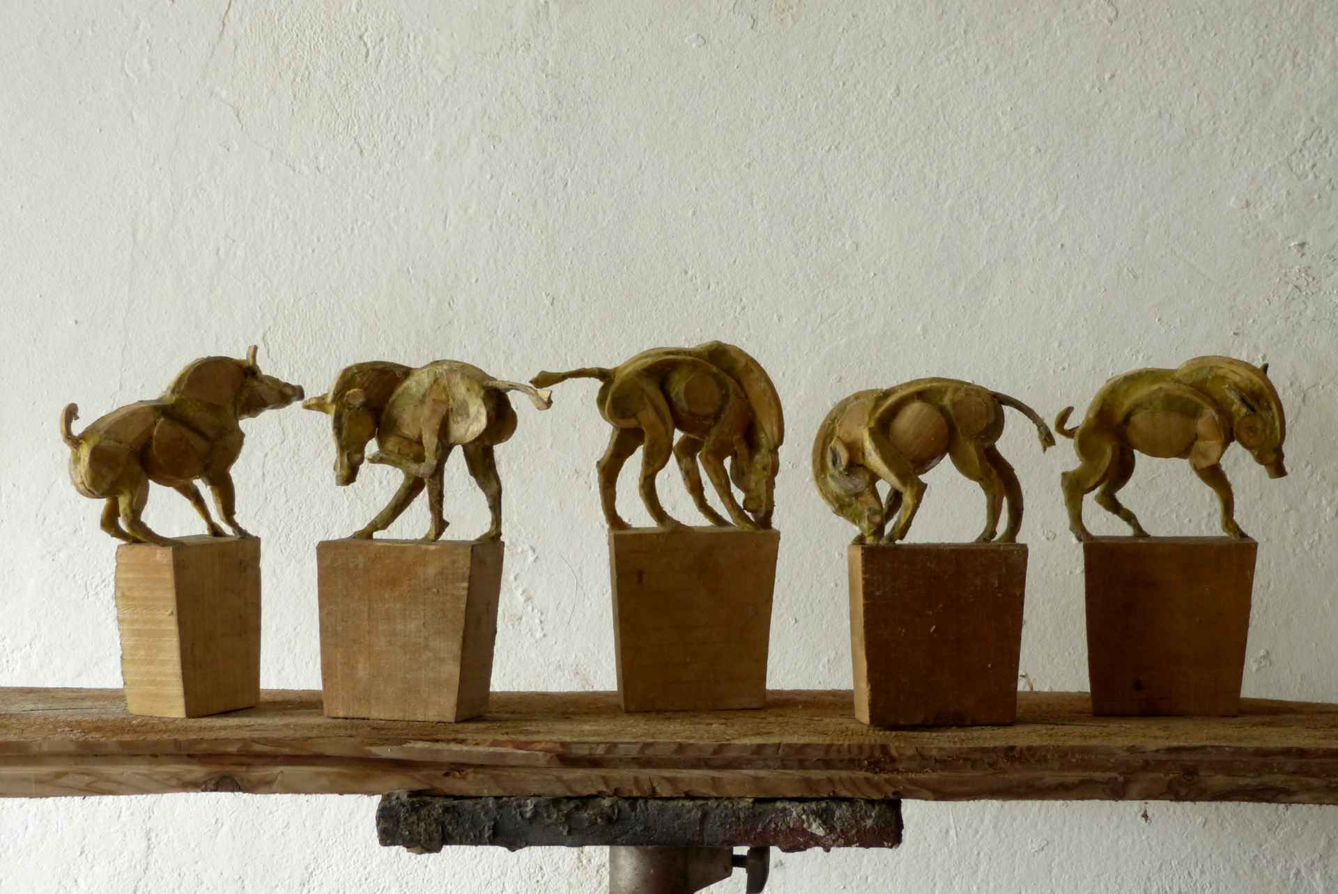 Wild Boar (maquette) by Sophie Dickens