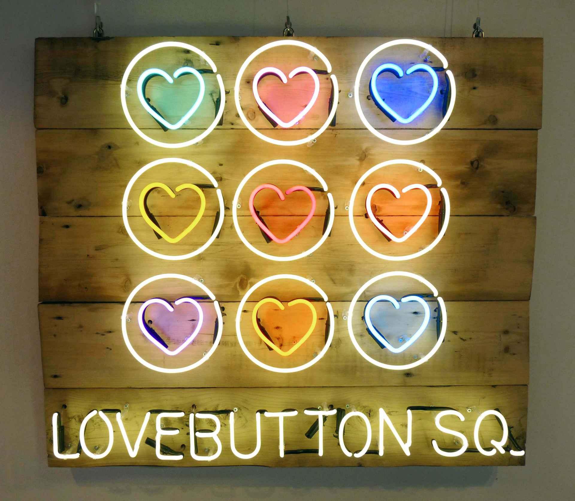 Love Button Sq by Stephen Farley