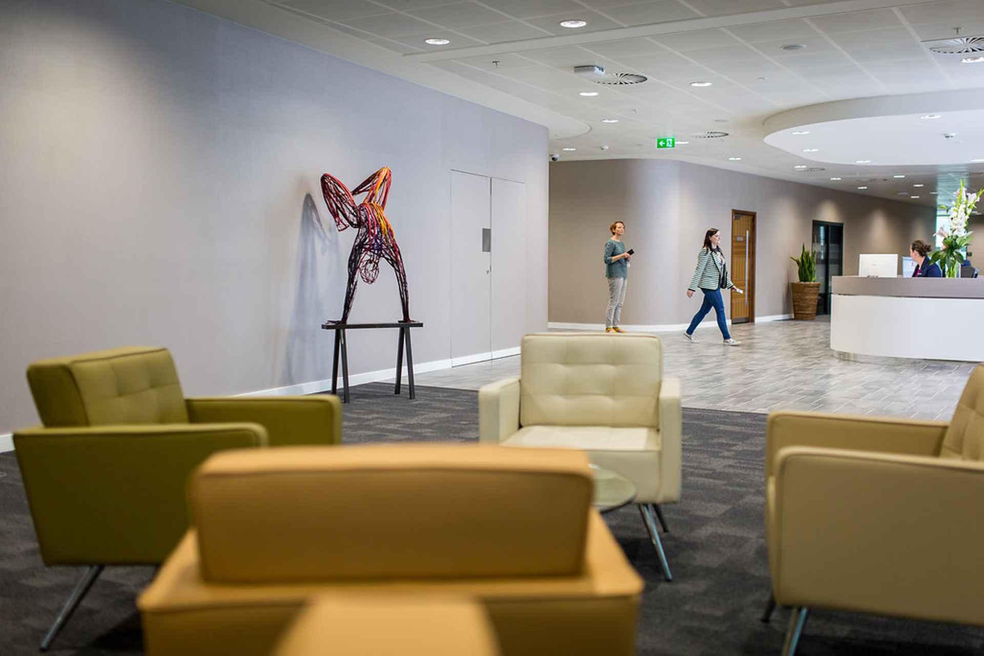 Waiting area by Addleshaw Goddard