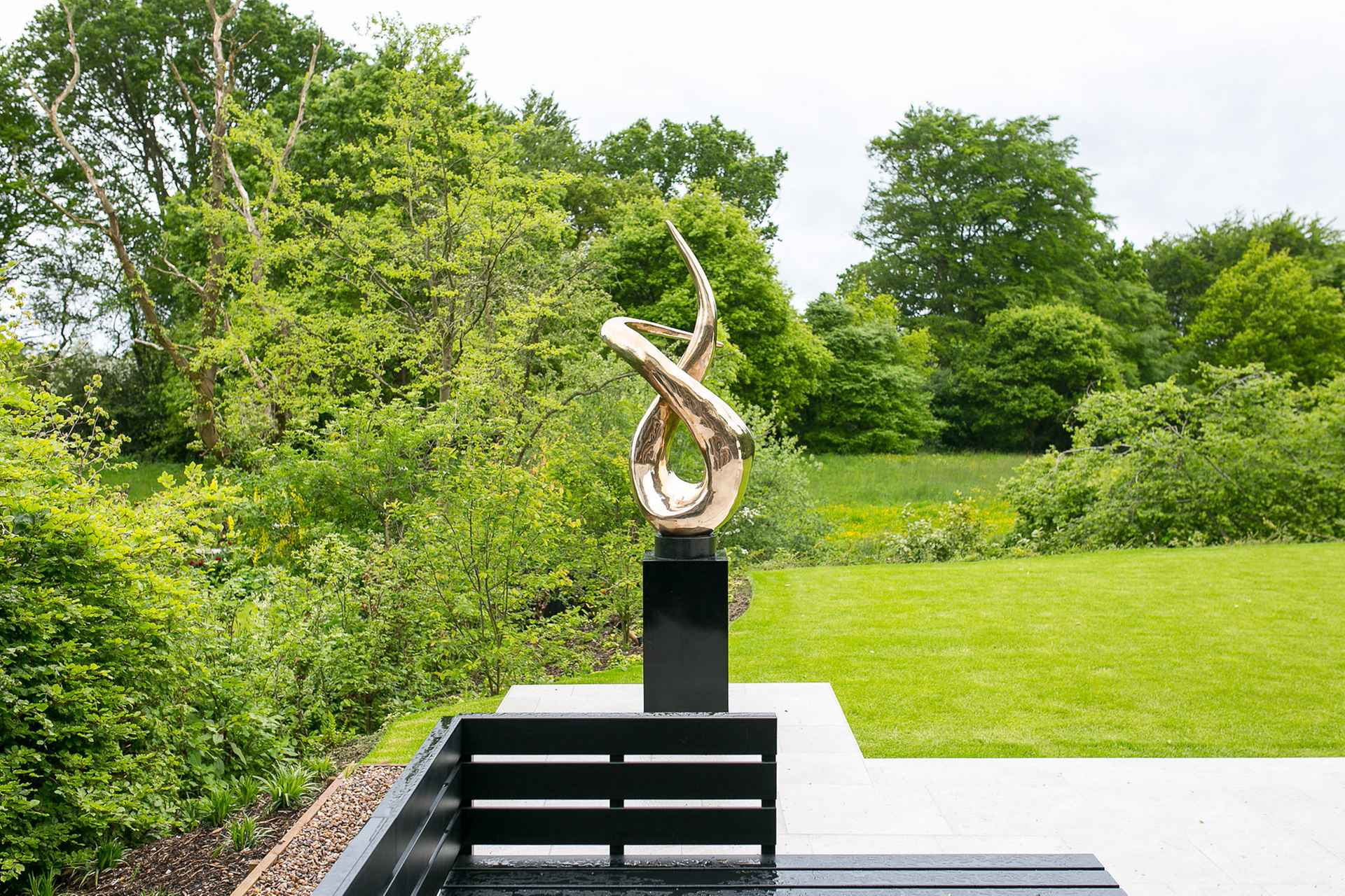 Abstract, bronze sculpture by Cheshire Home