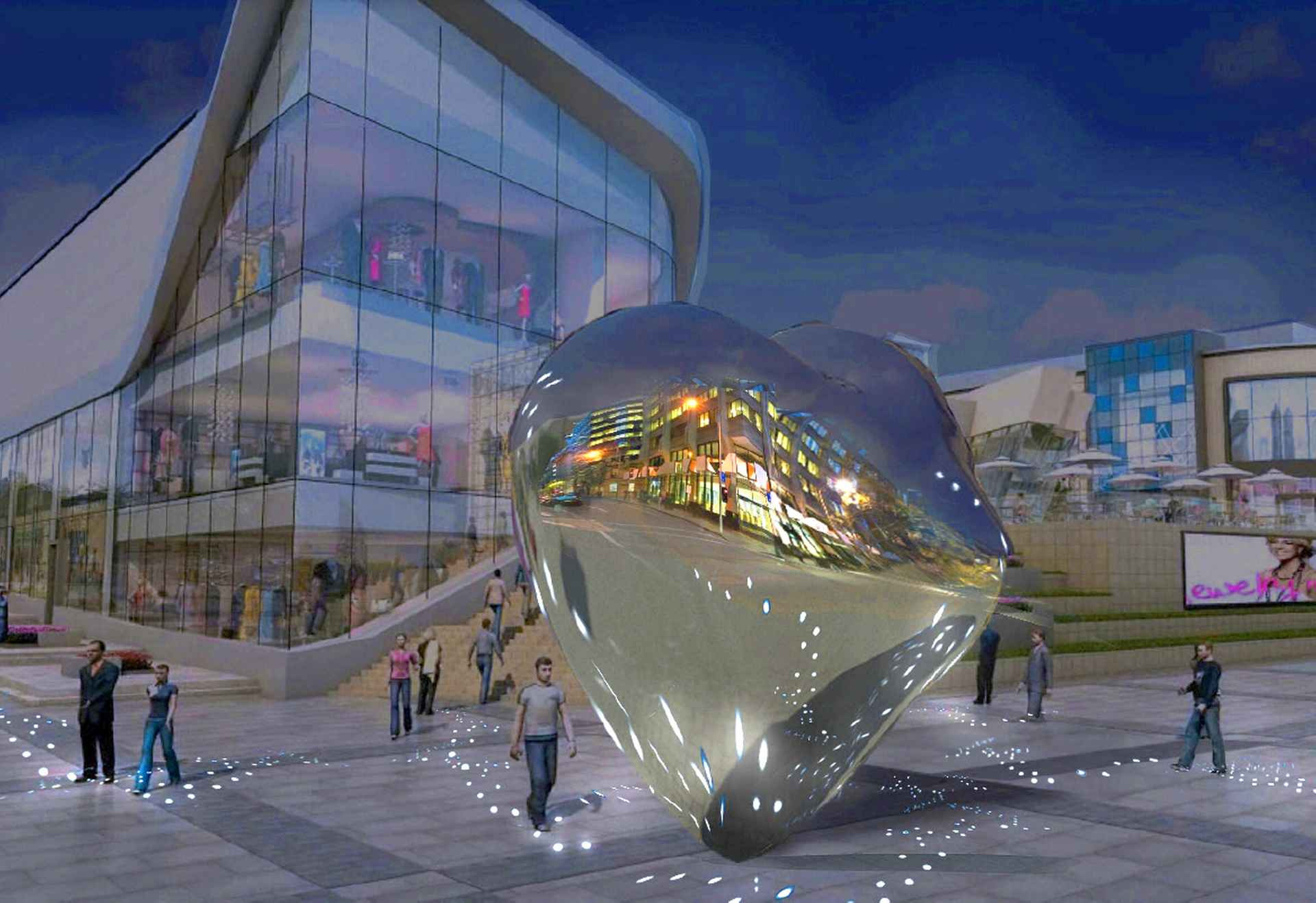 Lighting installation proposal 1 by Dostyk Plaza, Kazakhstan