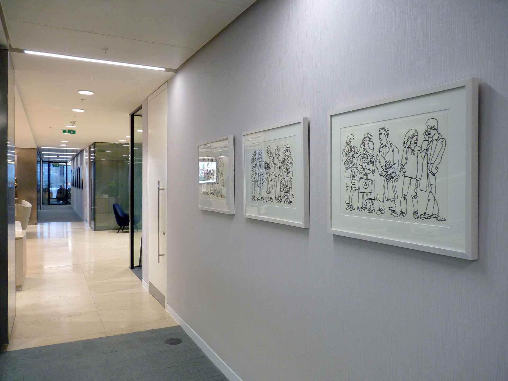 Continuous line drawings by EY (Ernst & Young)
