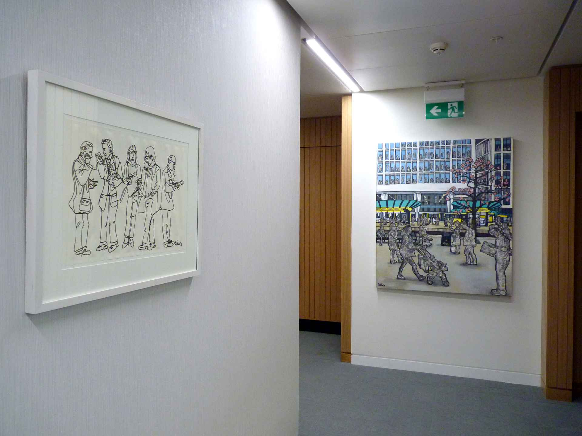 Reception area featuring original commission by EY (Ernst & Young)