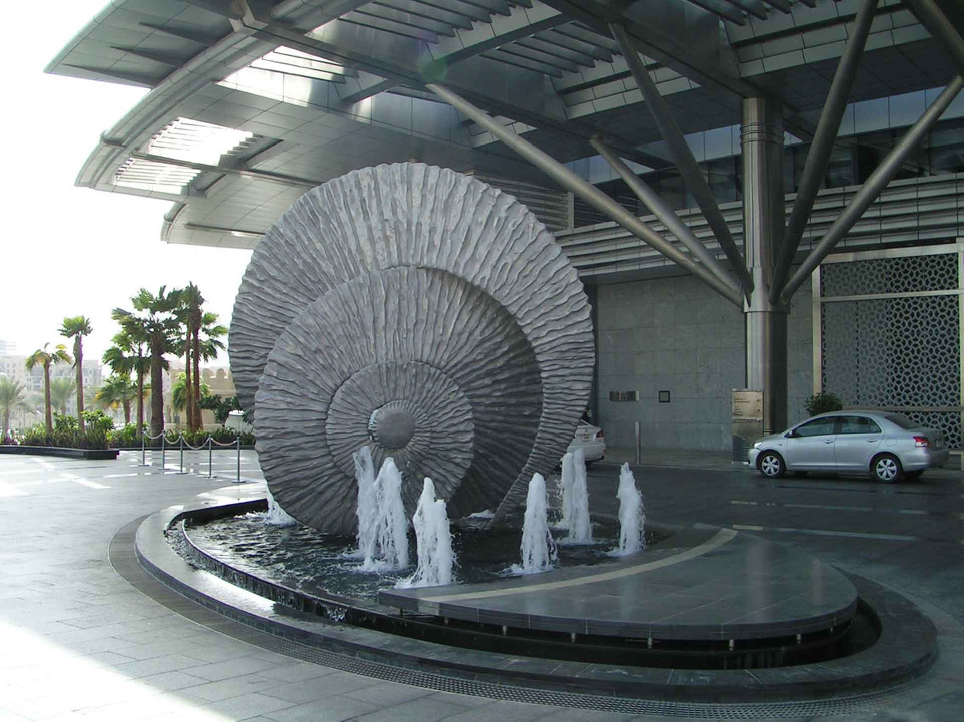 Water feature complimenting the aquatic concept by The Address, Dubai
