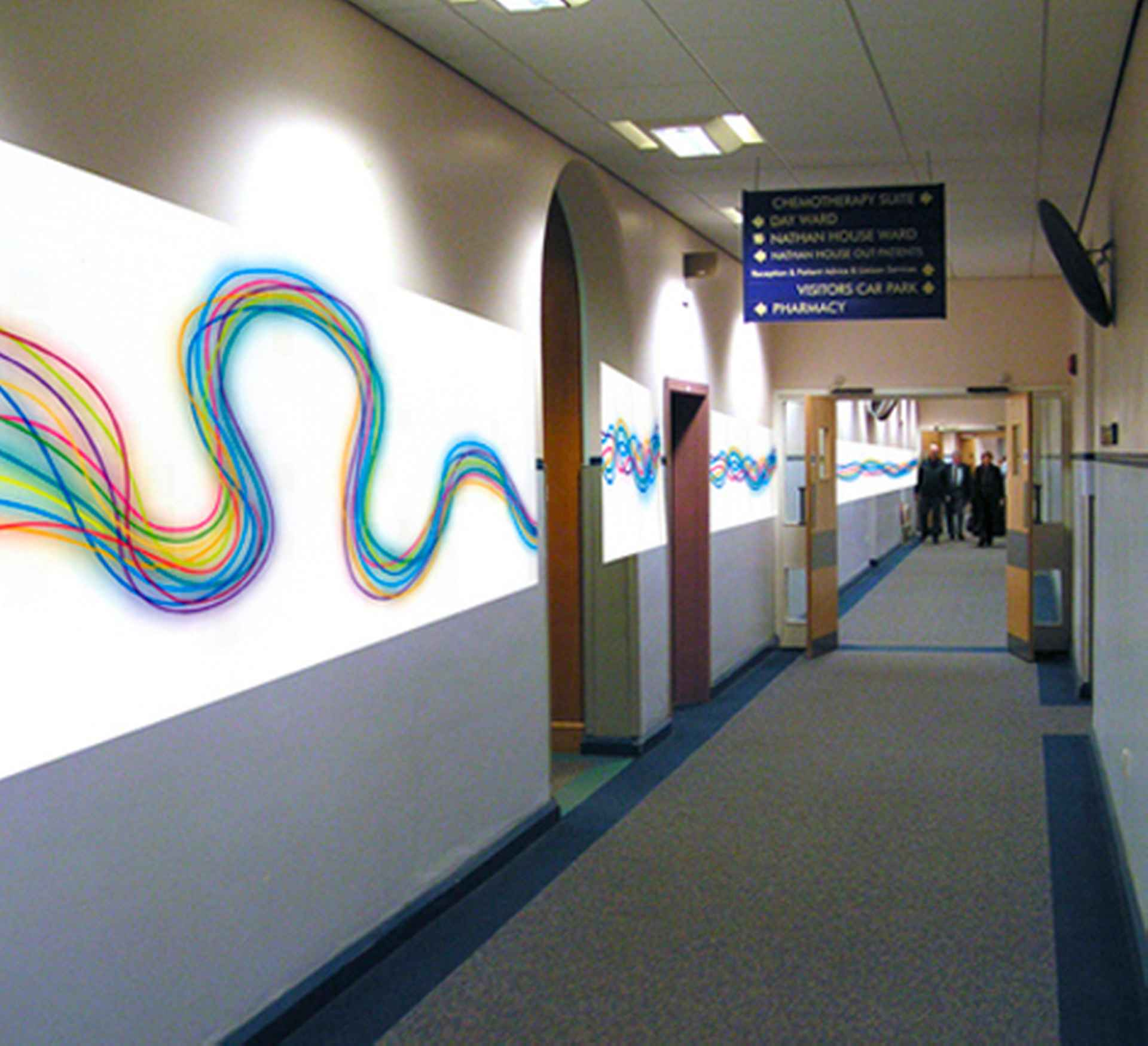 Proposed vinyl artwork to 'energise' the corridors by The Christie, Manchester
