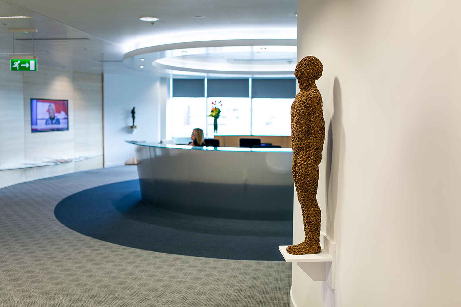 A contemplative and  memorable reception area by TLT Solicitors