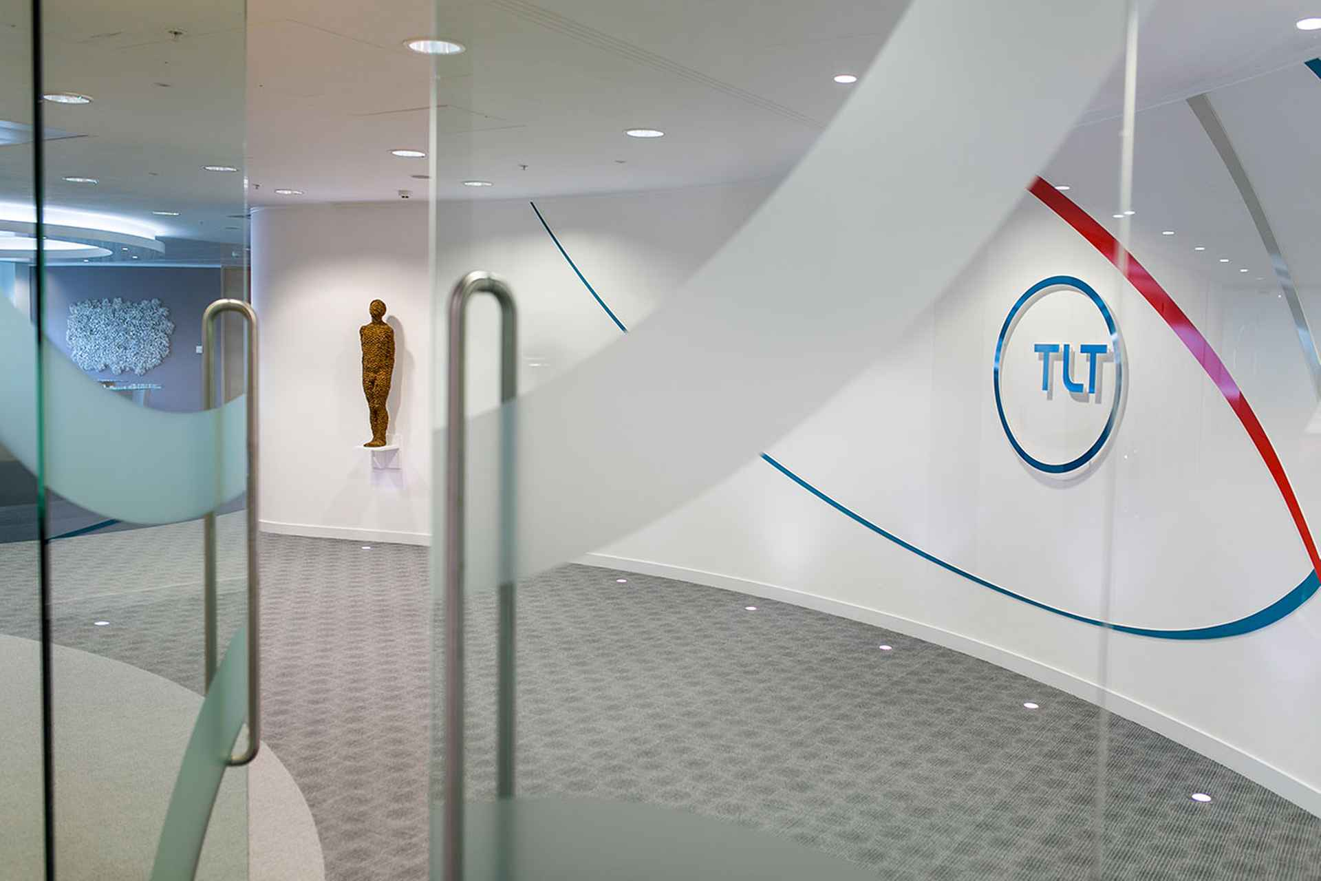 First impression as you walk through the entrance by TLT Solicitors