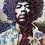 Jimi in Plectrums by Ed Chapman