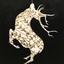 Golden Deer by Karenina Fabrizzi